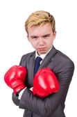 Funny boxer businessman — Foto de Stock