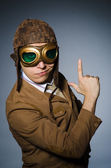 Funny pilot — Stock Photo