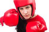 Woman boxer — Stock Photo
