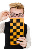 Funny chess player — Stockfoto