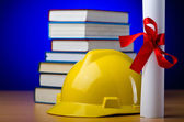 Concept of industrial education with hard hat — Foto Stock