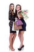 Beste vrienden na het winkelen — Stockfoto