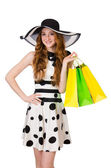 Woman with shopping bags — Stockfoto