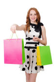 Woman with shopping bags — Foto Stock