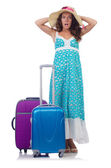 Woman going to summer vacation — Stock Photo