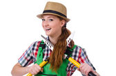 Woman with shears — Stock Photo
