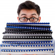 Funny man with lots of folders — Stock Photo #44168545