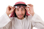 Arabische man in specificaties — Stockfoto