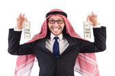 Arab businessman in with dollar — 图库照片