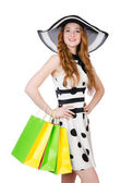 Woman with shopping bags — Stock Photo