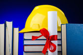 Concept of industrial education with hard hat — Stockfoto