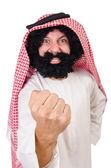 Funny threatening  arab — Stock Photo