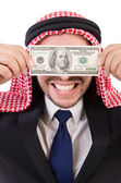 Arab businessman in with dollar — Stock Photo