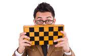 Funny chess player — Foto de Stock