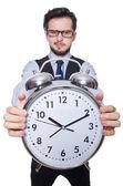 Businessman with clock — Stok fotoğraf
