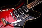 Close-up de guitarra da música — Fotografia Stock