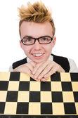 Jogador engraçado xadrez — Foto Stock
