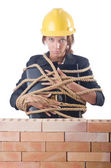 Woman construction worker — Stock Photo