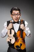 有趣的小提琴手 — 图库照片