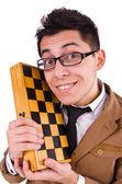 Jugador de ajedrez divertido — Foto de Stock
