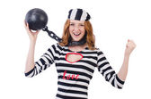 Young smiling woman-prisoner — Stock Photo