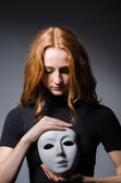 Woman with mask — Stock Photo
