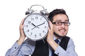 Businessman with clock — Foto de Stock