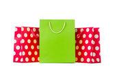 Kolorowe torby na zakupy — Zdjęcie stockowe