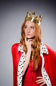 Queen in red dress — Stockfoto