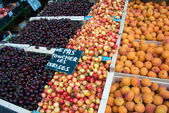 Cherries and apricots — Stock Photo