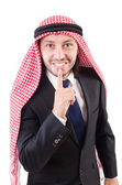 Arab businessman in silence concept — Stock Photo