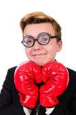 Boxer homme d'affaires jeune — Photo