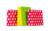 Colourful shopping bags — Stock Photo