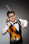 Funny violin player — Foto de Stock