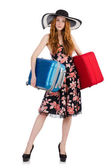 Woman ready for summer holiday — Stock Photo