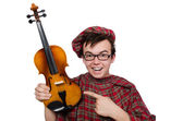 Scotsman with violin — ストック写真