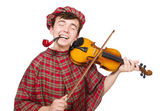 Scotsman with violin — Foto Stock