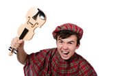 Scotsman with violin — Stockfoto