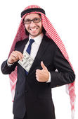 Arab businessman with dollar — Foto Stock