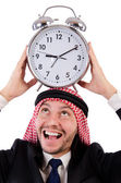 Arab man in time concept — Foto de Stock