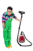 Man in green coveralls — Stock Photo