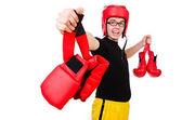 Boxeador gracioso — Stok fotoğraf