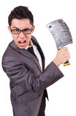 Man with axe — Stockfoto