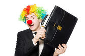 Clown businessman — Stock Photo