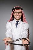 Funny arab doctor — Stock Photo