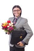 Homme avec fleurs — Photo