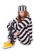 çizgili üniformalı mahkum — Stok fotoğraf