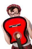 Scotsman playing guitar — Stock Photo