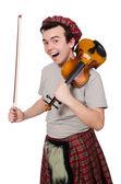 Scotsman with violin — Stock Photo