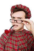 Scotsman with smoking pipe — Stock Photo